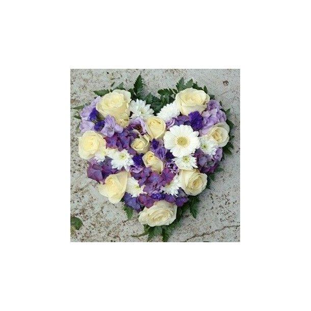 Hvit og lilla hjerte