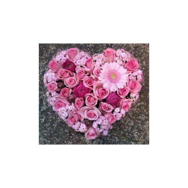 Rosa hjerte
